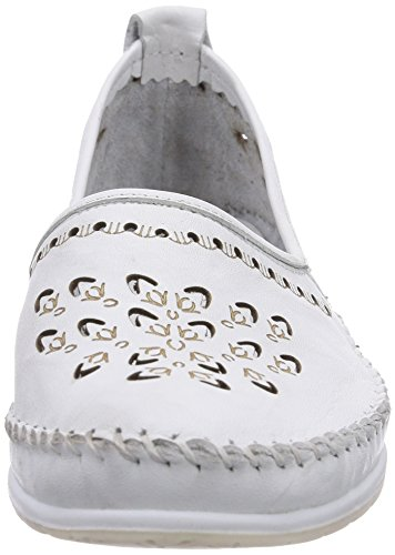 Andrea Conti - 0569207001, Scarpe chiuse Donna Bianco (Weiß (weiß 001))