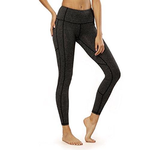 bjerka Damen Legging-s, Sport Leggin-s für Mädchen lang-e, Hohe Hüfte Taille, High Waist Zumba Yoga Pant-s Sporthose-n, Laufhose-n, Dunkelgrau Dark Grey L - Nike Stretch Fleece