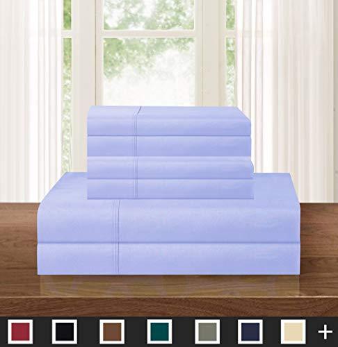 Elegant Comfort Luxuriös weich Fadenzahl 1500 ägyptische 4-teilige Premium Hotel-Qualität Knitter- und lichtbeständiges kuscheliges Bettwäsche-Set Traditionell Full Lavendel -