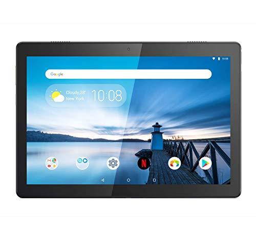 lenovo tab m10 tablet, displau 10,1 hd ips, processore qualcomm snapdragon 429, 32gb espandibili fino a 256gb, ram 2gb, wifi, android 9, bianco (polar white)