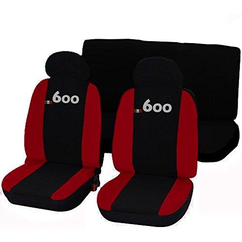Lupex Shop 600_NR Coprisedili Auto, Bicolore Nero/Rosso