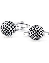 Bling Jewelry Acero Inoxidable Deporte pelota de golf gemelo