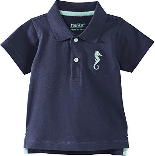 Golden Lutz® Baby Jungen Poloshirt, Kurzarm (Navy Seepferdchen, Gr. 86/92), 100% Baumwolle