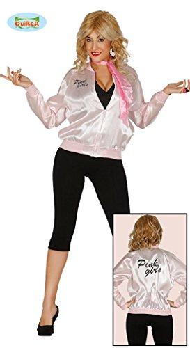 KOSTÜM - 50er JAHRE GIRL - Größe 42-44 (L), Pink Ladies Lady Grease Musical Film Theater Aufführung Bluse Blouson (Pink Lady Kids Kostüme)