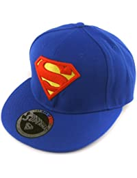 cooles original SUPERMAN FLAT 6 PANEL Basecap Cap Hip Hop SUPERMAN Logo ROYAL