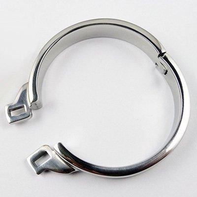 Speed-sound-edelstahl (Edelstahl-Keuschheitskäfig mit Harnröhrenstecker aus Silikon (44mm RING ONLY))