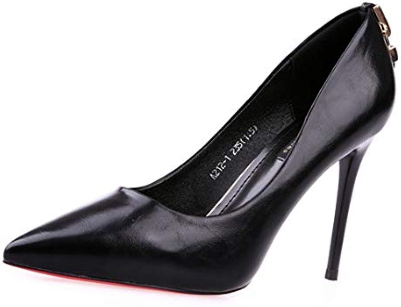 YMFIE La Boca Baja de la Moda Simple de Las Mujeres señaló los Tacones de Aguja Solo Calza los Zapatos del Partido... -
