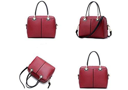Borse, signore semplice borsa, il sacchetto di spalla di modo, sacchetto del messaggero Red wine