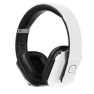 August EP650 Wireless Bluetooth Headphones - White - Android/iOS App, Bluetooth v4.2, NFC & aptX LL