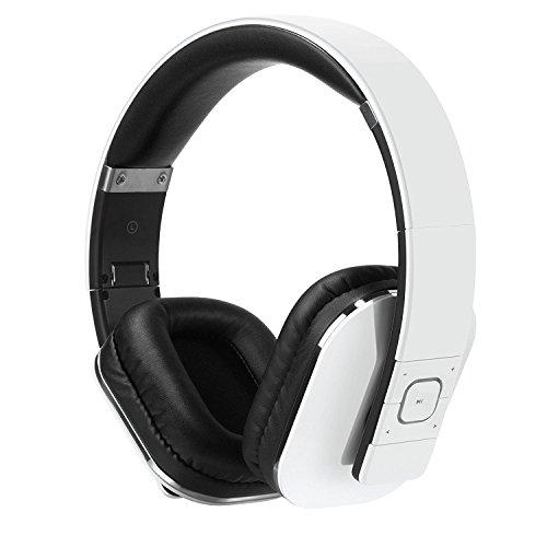 August EP650 Bluetooth v4.2 NFC Kopfhörer mit aptX Low Latency - Kabellose Over-Ear Headphones mit individuellem Sound (weiß)