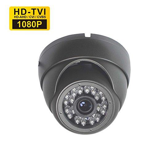 SKYVIEW 1080P überwachungskamera, 2 MP TVI, 3,6 mm Weitwinkelobjektiv 24 Infrarot LEDs Night Vision IR-Cut wasserdichte Indoor/Outdoor CCTV Kamera-Graue Farbe Farbe Wasserdichte Kamera