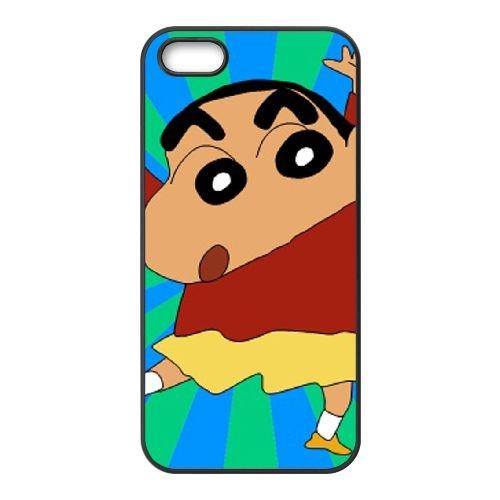 Crayon Shin Chan coque iPhone 4 4S Housse téléphone Noir de couverture de cas coque EBDXJKNBO16802