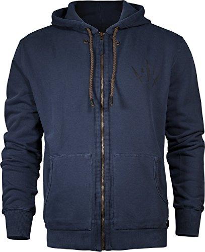 Musterbrand-Uncharted-Zip-Hoodie-Herren-Liberty-Sweatshirt-Jacke-Blau