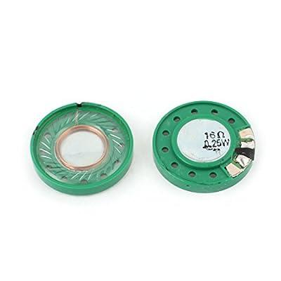 sourcingmap® 2 Pcs 0,25W 16Ohm 29mm Interne Round Magnet Haut-parleurs électroniques trompette par Sourcingmap
