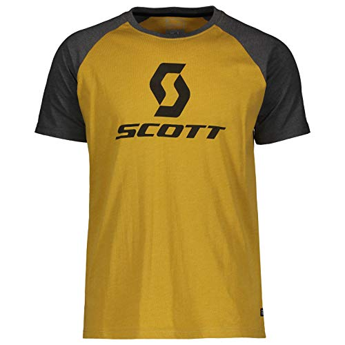 Scott T-Shirt 10 Icon Raglan Gelb Gr. XXL