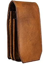 "Goatter Brown Leather 5.5"" Inch Mobile Cover with Card Wallet"