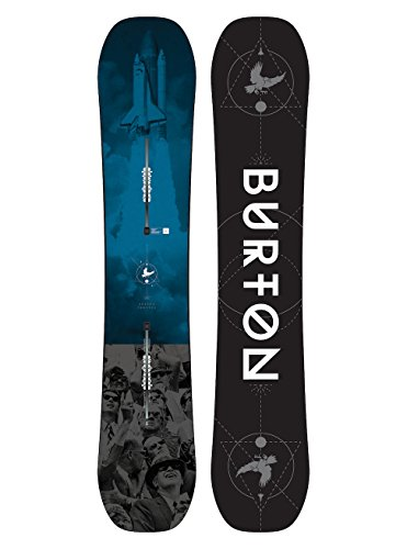 Burton Herren Process Snowboard, Schwarz, 162