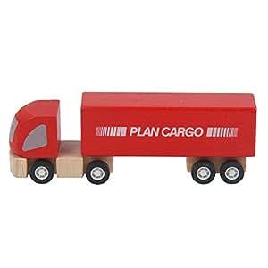 PlanToys - PT6006 - Véhicules en bois - Camion semi - remorque en bois, Plan City