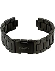 Repuesto banda reloj de pulsera de acero inoxidable negro mate 20mm compatible con Timex tw2p60800