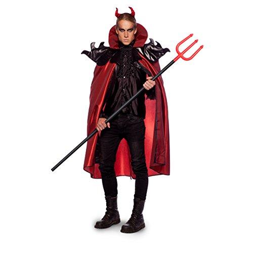 Disfraz Capa y Tridente Diablo Talla XL/XXL Halloween Carnaval