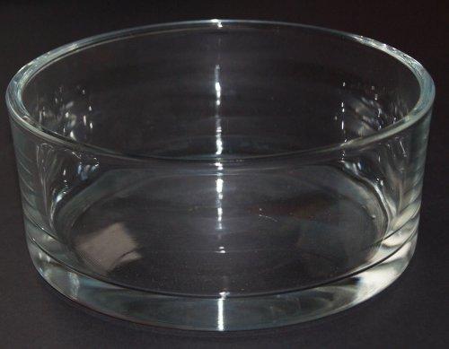 Glas Bol automatique ronde Transparent par Sandra riche, Verre, claire, 8 cm high Diameter 19 cm