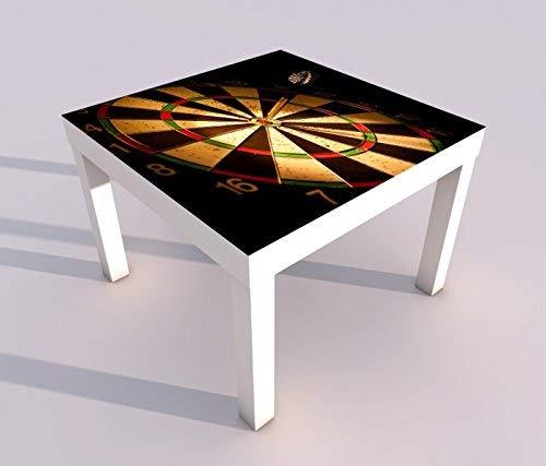 Design - Tisch mit UV Druck 55x55cm Sport Dart Pfeil Dartscheibe Spieltisch Lack Tische Bild Bilder Kinderzimmer Möbel 18A368, Tisch 1:55x55cm