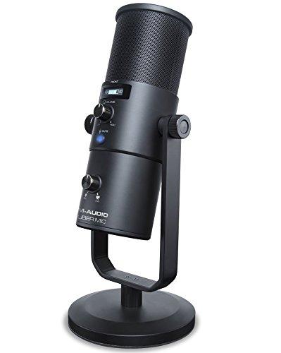 M-Audio Uber Mic, Professionelles USB Mikrofon mit wechselbarer Richtcharakteristik für YouTube, Podcast, Gaming und die Musik Produktion