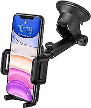 GVTECH Car Phone Holder, Dashboard Windscreen Car Phone Mount, Universal Car Cradle 360° Rotatable Extendable