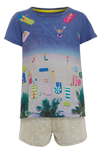 girls-summer-pyjamas-ex-ms-shorts-pyjamas-2-piece-stay-soft-short-pjs-teenager-9-10-years-9-10-years