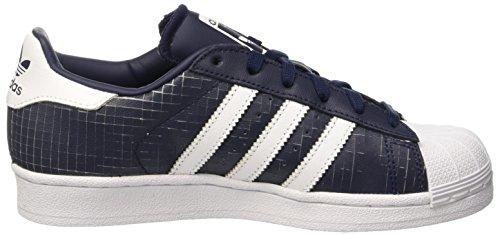 Adidas Superstar, Scarpe da Ginnastica Unisex Adulto Blu (Conavy/Ftwwht/Conavy)