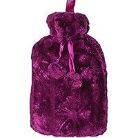 Octave Wärmflasche mit luxuriösem weichem Kunstfellbezug und Bommelband preisvergleich bei billige-tabletten.eu
