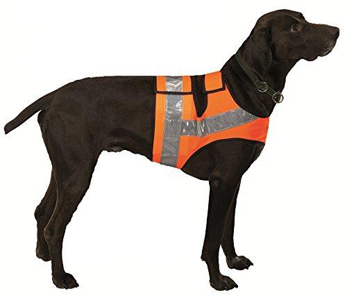 Farm-Land Hunde Reflektorweste Warnweste Leuchtweste Jagdweste (1 = Teckel / Terrier bis 64cm)