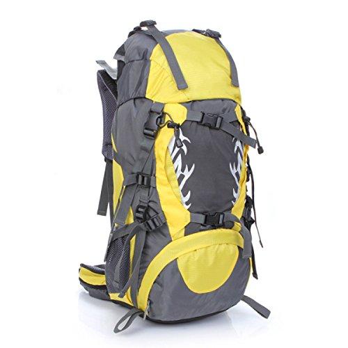 LQABW 2017 Nuovi Sport Esterni Di Guida Del Sacchetto Selvaggio Zaino Di Campeggio Professionale Poliestere Panno Equitazione Borsa Oxford Impermeabile Ridotto Trekking Zaino .45L,Green Yellow