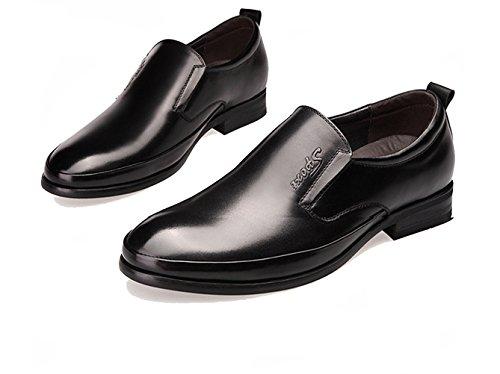 XIGUAFR Chaussure en Cuir Pour Homme Comfortable Chaussure au Loisir Simple à Enfiler Casual Respirant Noir