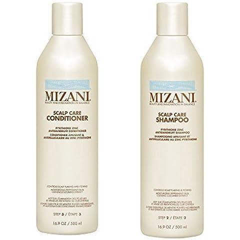 Mizani cuidado del cuero cabelludo, set de champú y acondicionador