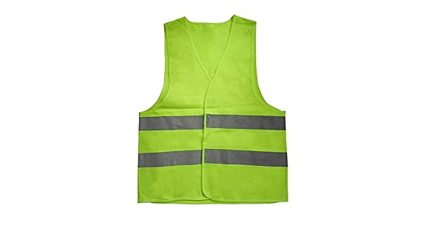 Greatangle Reflektierende Warnweste Arbeitskleidung Warnschutz Tag Nacht Schutzweste zum Laufen Radfahren Verkehrssicherheit orange XXL