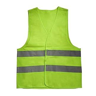 Chaleco Reflectante de Advertencia Ropa de Trabajo Alta Visibilidad Día Noche Chaleco Protector para Correr Ciclismo Tráfico Seguridad-Amarillo XL