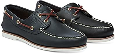 Timberland Classic 2 Eye, Men's Boat Shoes, Blue, 5.5 UK