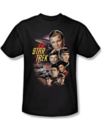 Star Trek - St / The Classic Crew Adult T-Shirt In Black