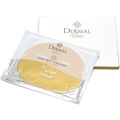 Stück Gold Bio Collagen Gesichts Maske mit reichhaltigem Collagen ° Hyaluronsäure ° Feuchtigkeitsmaske ° Anti Aging ° Anti Falten (Gold Maske)