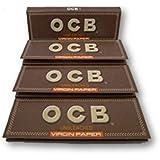 OCB VIRGIN UNBLEACHED SINGLE REGULAR ROLLING PAPERS Pack Of 4 Booklets From SUDESH ENTERPRISES