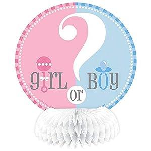 Partido Ênico Mini Honeycomb género revela Baby Shower Decoraciones del partido (paquete de 4)