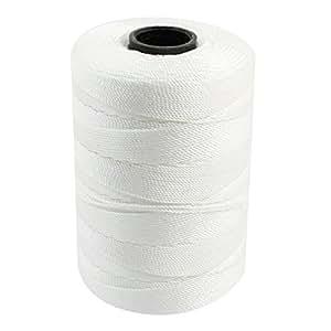 Corde torsadée Nylon 3 rangées de couture pour fil cordon-Blanc - 1 mm de diamètre