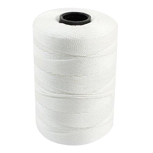 sourcing Map Corde torsadée Nylon 3 rangées de Couture pour Fil Cordon-Blanc - 1 mm de diamètre