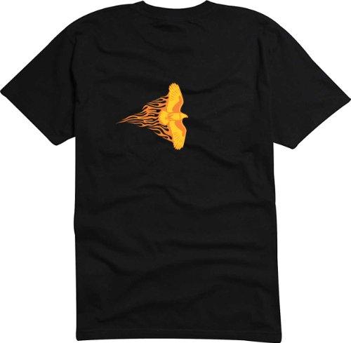 T-Shirt Herren Adler Schwarz
