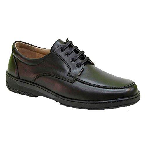 Primocx Zapato Cordones Hombre Especial Para Diabéticos Extra Cómodo EN Negro Talla 41