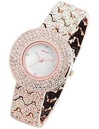 Handcuffs Designer Women Quartz Wrist Watch With Black Leather Strap