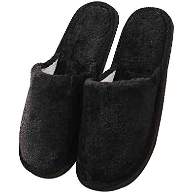 GOLDGOD Peluche Coton Pantoufles D'hiver Femmes Automne Et D'hiver Pantoufles Couleur Unie À L'intérieur Des Chaussures De Maison... - B07K9SB299 - 19ccea