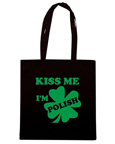 T-Shirtshock - Borsa Shopping TIR0129 kiss me im polish dark tshirt Nero