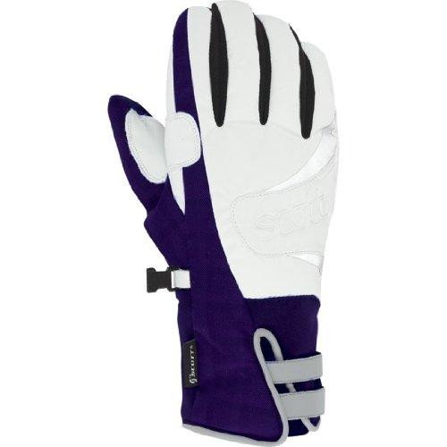 Scott USA Damen Ally Handschuhe, damen, Dark Purple Plaid (Plaid Ski-handschuhe)